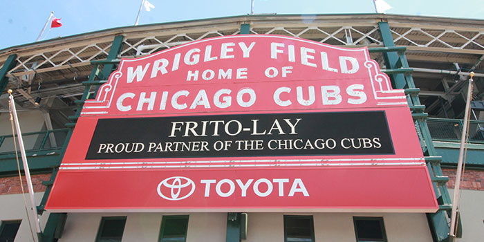Sign at Wrigley Field Chicago