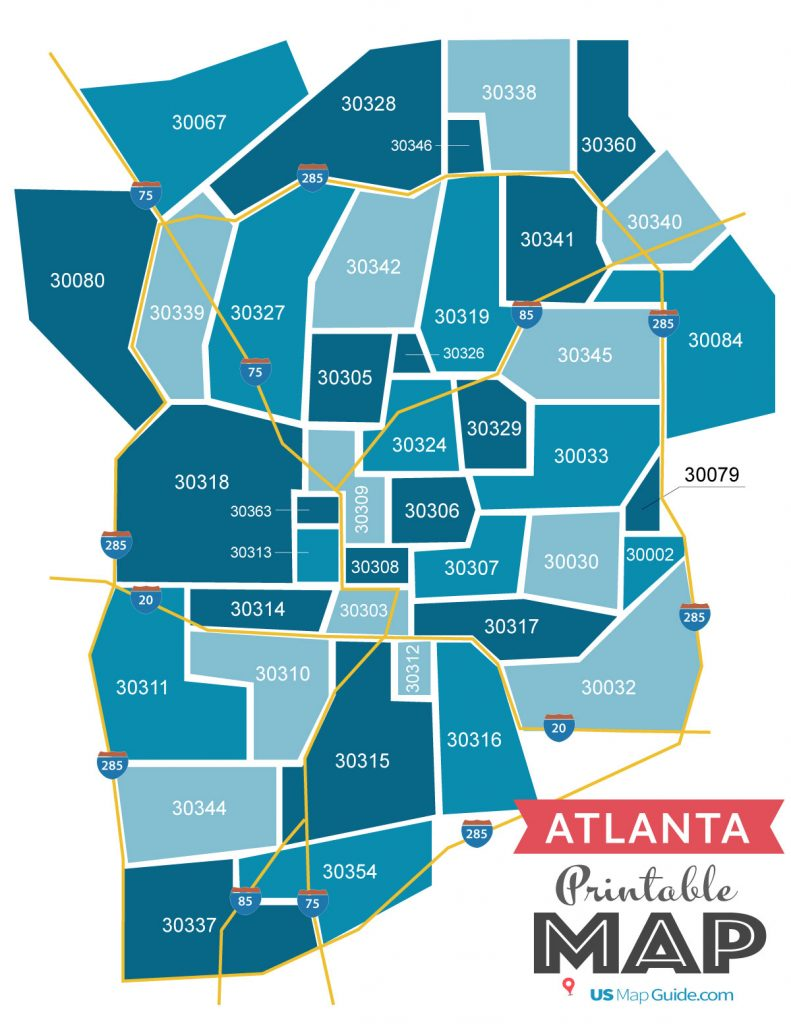 Zip Code Map Atlanta Atlanta GA Zip Code Map [Updated 2020]