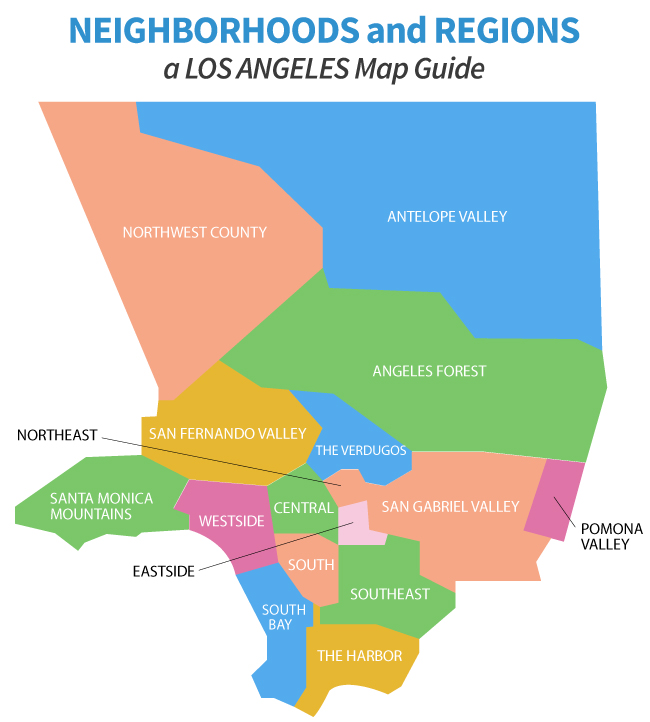 Los Angeles Ca Zip Code Map Updated 2020