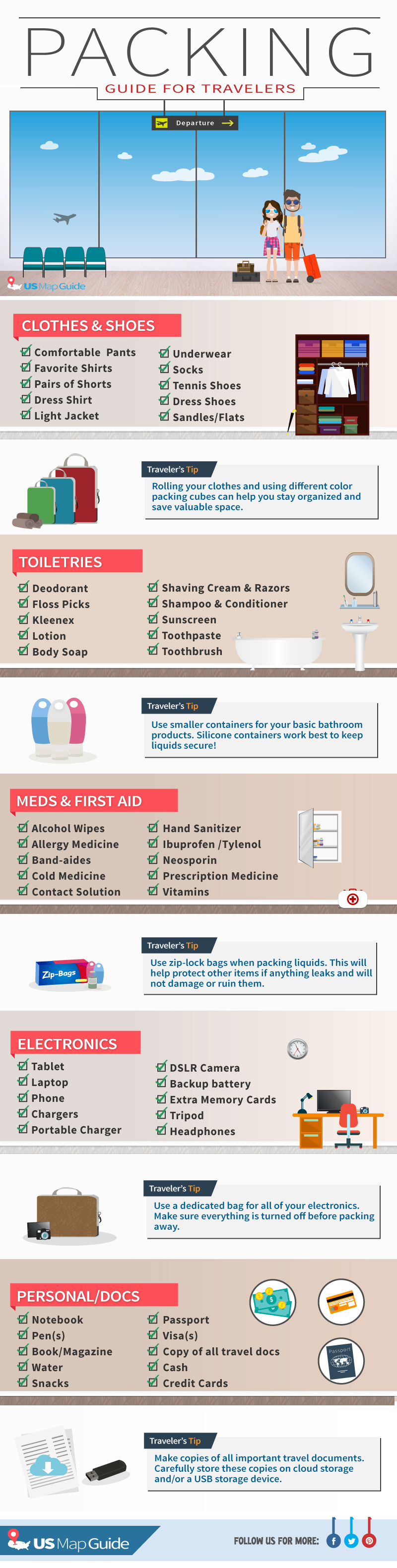 Ultimate packing tips for travelers - infographic