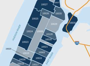 New York City Zip Code Map preview